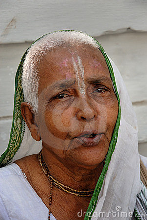 Widow in India Editorial Stock Image