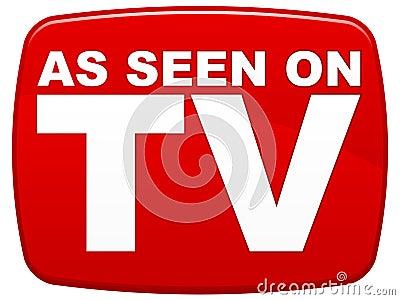 Wie auf Fernsehapparat gesehen