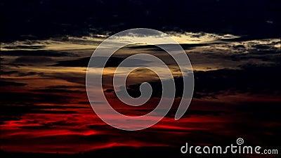 Wieczór colour chmurnieje w Falkensee, Brandenburg Niemcy zdjęcie wideo