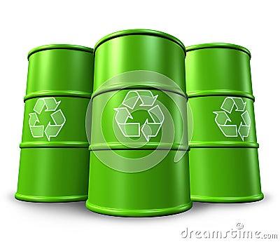 Wiederverwertung der Behälter