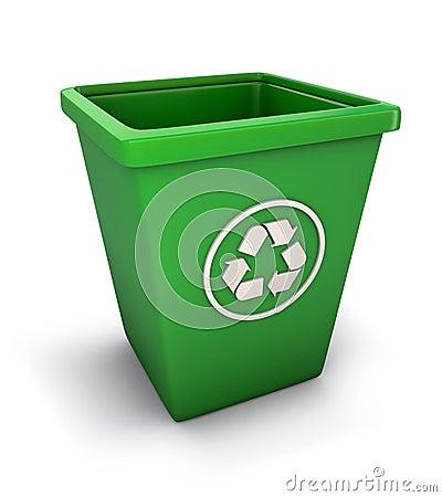Wiederverwertung des Abfalleimers