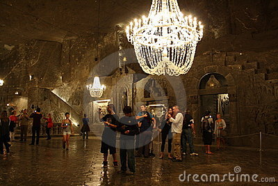 Wieliczka salt mine (Poland) Editorial Stock Image