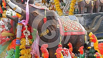 Wielka figurka słoń, symbol Tajlandia zbiory