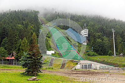 Wielka Krokiew ski jumping arena in Zakopane Editorial Image