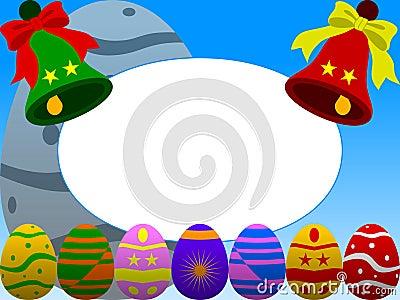Wielkanoc ramy zdjęcie blue