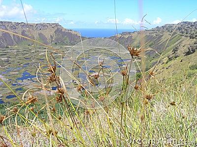 Wielkanoc wyspy jrd rana wulkan