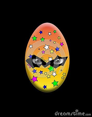 Ponury Wielkanocny jajko Z oczami