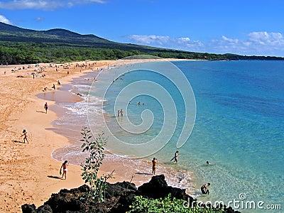 Wielki plażowy Hawaii Maui makena