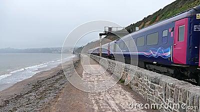 Wielki zachodni kolej pociąg dawlish zbiory wideo