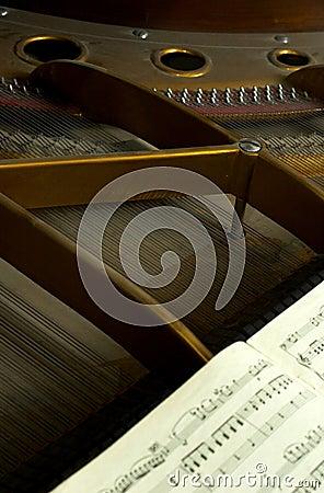 Wielkie części wewnętrznych fortepianowe