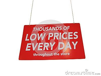Wielkiej czerwonej sprzedaży detalicznej zakupy błyszczący znak