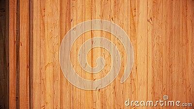 Wiersze pionowe abstrakcyjnych desek drewnianych stojących jeden po drugim Animacja Nawierzchnia z drewna brązowego, deski tej sa zbiory