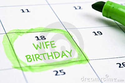 Wife birthday mark