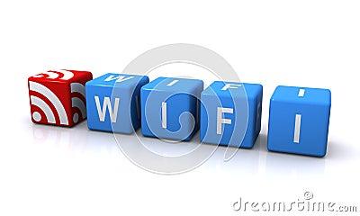 Wifi blue block letters
