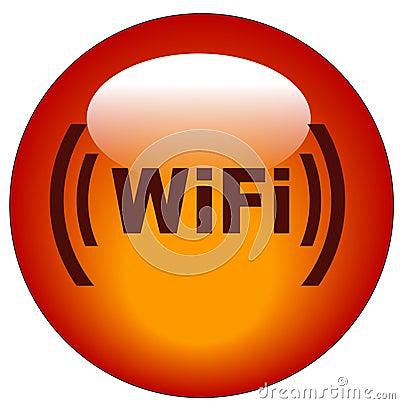 Free Wifi Button Or Icon Stock Photo - 5693830