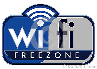 Wifi free zone Editorial Stock Image