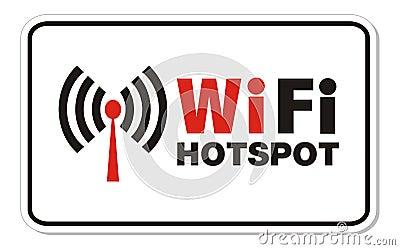 Wifi hotspot rectangle sign