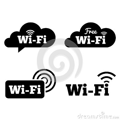 Stock Image Wifi Icons Wifi Symbols Wireless Cloud Icons  work Zone Vector Illustration Image37156141 on credit payment templates free