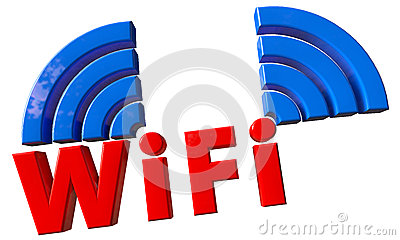 Wifi text in 3d