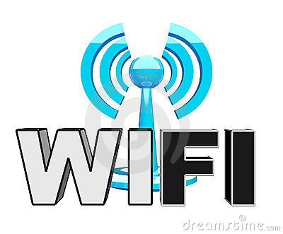 Wifi (wireless) blue modern icon