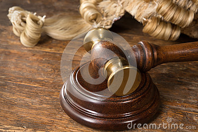 Wig and gavel