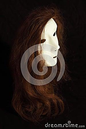 Wig on mask