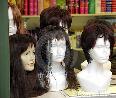 Wigs in Display