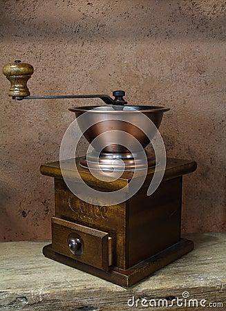 Wijnoogst die van oude koffiemolen wordt gestileerd royalty vrije stock afbeelding afbeelding - Wijnoogst ...