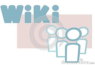Wiki information people symbols design elements