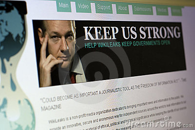 Wiki Leaks Website Editorial Image