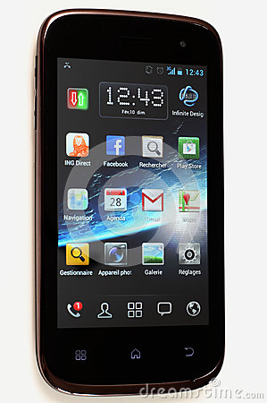 Wiko Cink Slim - Android Mobile Phone isolated Editorial Image