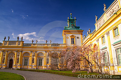 Wilanow Palace gate