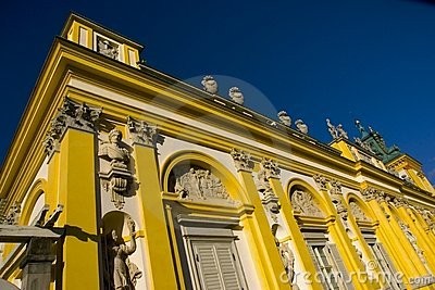 Wilanow Palace in Warsaw, Poland - detail
