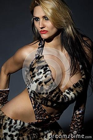 Wild amazonian woman
