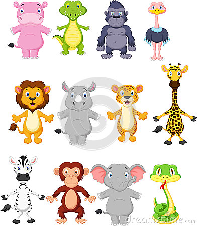 Free Wild Animal Cartoon Stock Image - 45680671