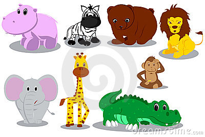 Wild animal cartoons