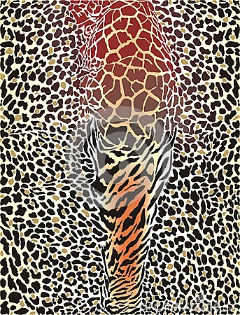 Wild animal pattern printed background