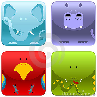 Free Wild Animals - Icon Set 1 Stock Images - 8523314