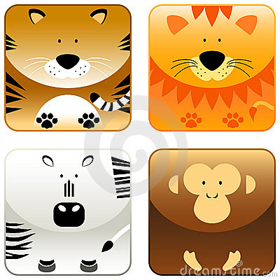 Wild animals - icon set 2