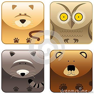 Free Wild Animals - Icon Set 3 Stock Photo - 8523380