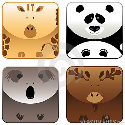 Wild animals - icon set 4