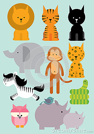 Wild animals /illustration