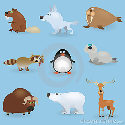 Free Wild Animals Set 3 (North) Stock Photos - 20087063