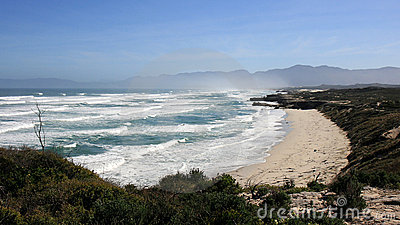 Wild beach and high waves , Garden Route