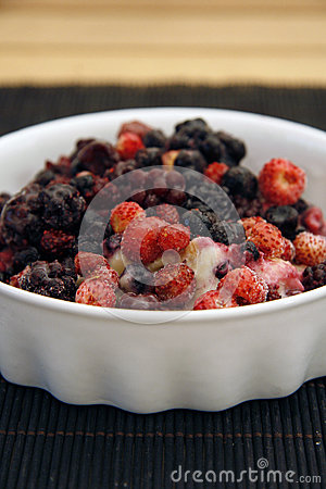 Wild Berries served in a bowl