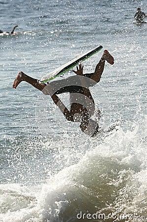 Wild boogie boarder