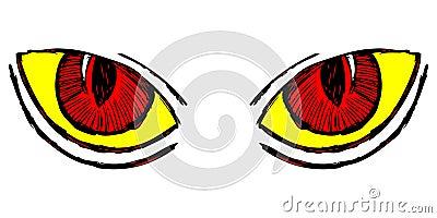 Wild cat eyes