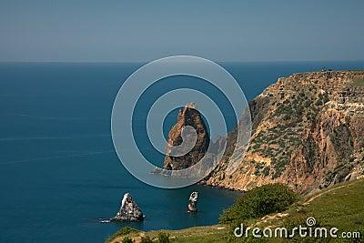 Wild coast of Black sea