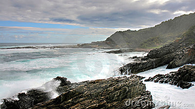 Wild coast and high waves, Storms River Mouth