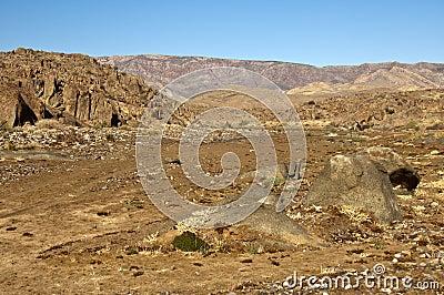 Wild desert-like landscape in the Richtersveld